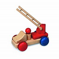 Fagus Wooden Mini Fire Truck