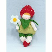 Strawberry Baby Fairy Felt Doll