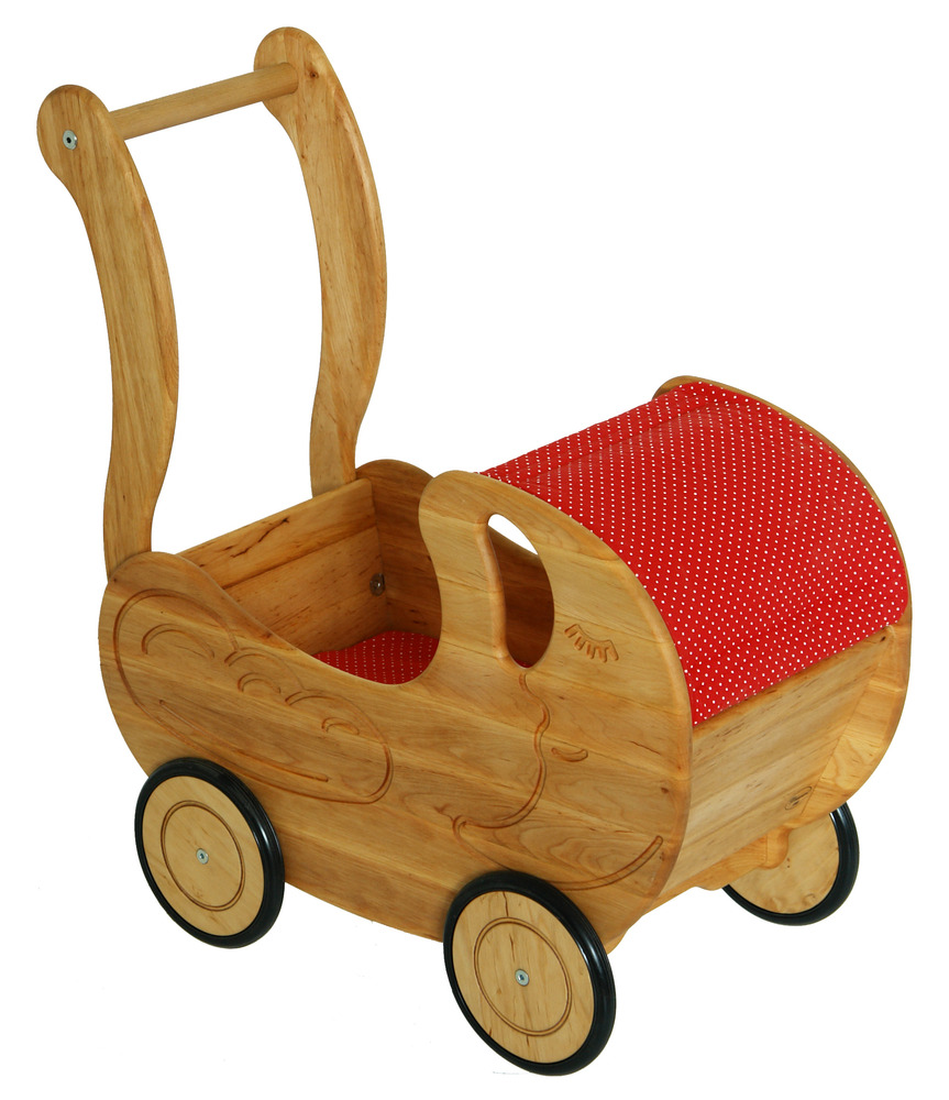 Doll S Wooden Pram Little Goose Toys