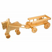 Wooden Horse with Wagon