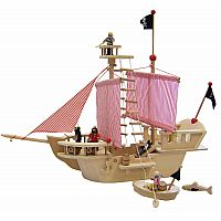Wooden Pirate Ship (with accessories)