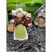 Mother Earth with Baby Seed Fairy Felt Dolls