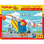 Paddington Bear Takes Flight 24-Piece Floor Puzzle