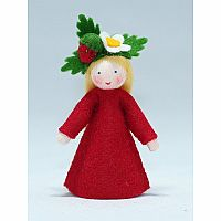 Wild Strawberry Fairy Felt Doll