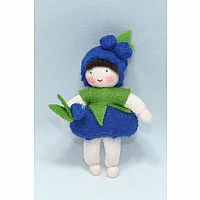 Blueberry Baby Fairy Felt Doll