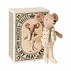 Maileg Little Brother Dance Mouse in a Matchbox