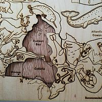 Wooden Canadian Map Puzzle