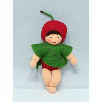 Cherry Baby Fairy Felt Doll