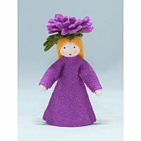 Chrysanthemum Fairy Felt Doll