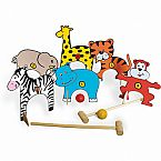 Wooden Jungle Animals Croquet Set