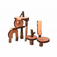 Wooden Tree Branch ecoBlocks, 22 Piece Set