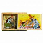 Findus and Pettson Wooden Puzzle Set