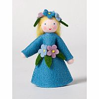 Forget-Me-Not Fairy Felt Doll