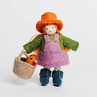 Farmer Girl Felt Doll
