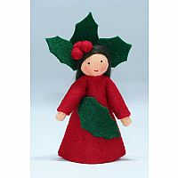 Holly Berry Fairy Felt Doll