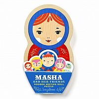 Masha & Her Friends Wooden Nesting Doll Puzzle