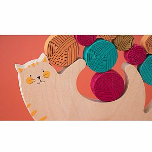 Meow Cat and Yarn Balancing Game by Londji
