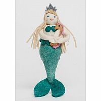 Coral Mist Mermaid Felt Doll