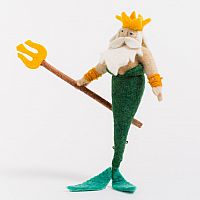 King of the Sea Merman Felt Doll
