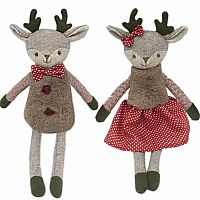 Mr. & Mrs. Merry Reindeer Doll Set