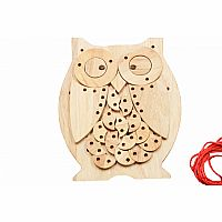 Wooden Lacing Owl