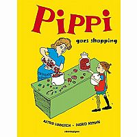 Pippi Longstocking Goes Shopping Hardcover Book