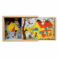 Pippi Longstocking Wooden Puzzle Set