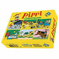 Pippi Longstocking Wooden Block Cube Puzzle Set