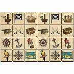 Wooden Pirate Memory Tiles