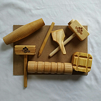 Play Dough Wooden Tool Set w/ Mats