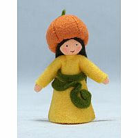 Pumpkin Fairy Felt Doll