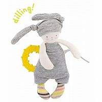 Rabbit Teething Ring by Moulin Roty
