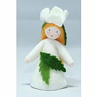Christmas Rose Fairy Felt Doll