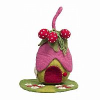 Strawberry Fairy House and Mat
