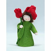 Tulip Fairy Felt Doll